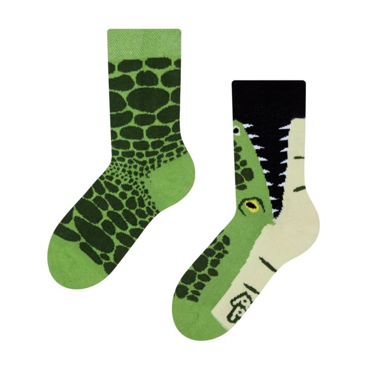 Detské veselé ponožky Krokodíl