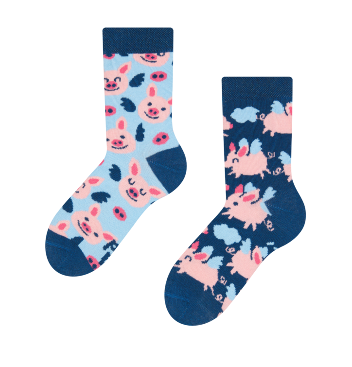 Kid's Socks Flying Pigs