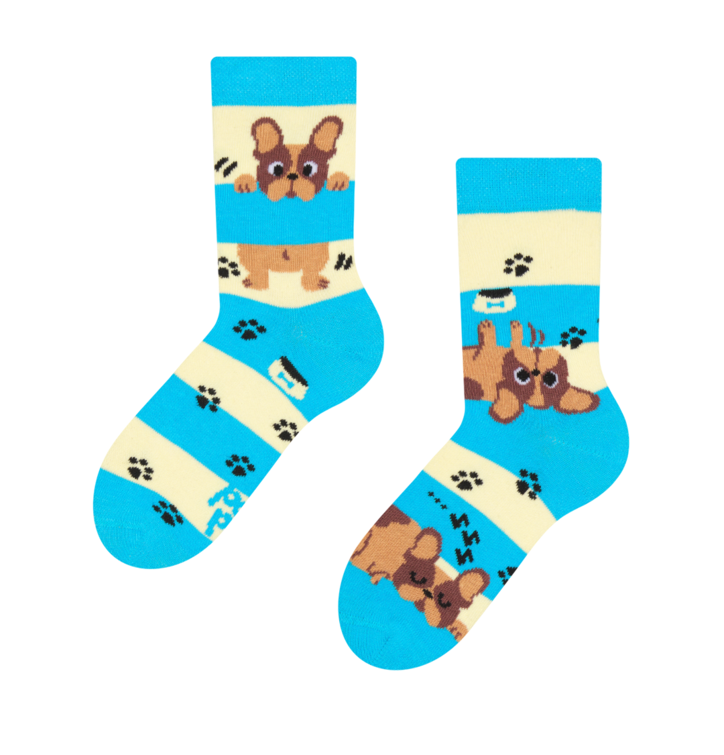 Kid's Socks Dogs and Stripes