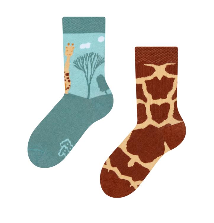 Detské veselé ponožky Žirafa