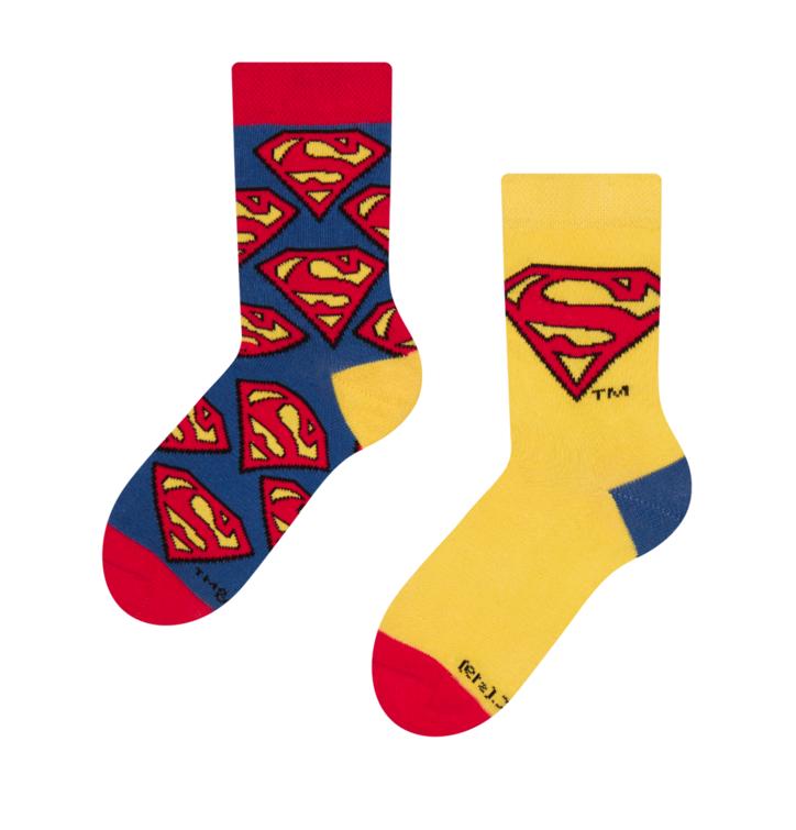 Vrolijke kindersokken Superman ™ Logo