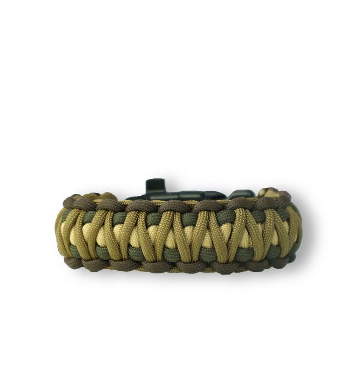 Bracelet en paracorde Multicam Digi avec couteau, allume-feu, boussole et sifflet