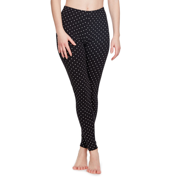 Zwarte katoenen leggings Stippen