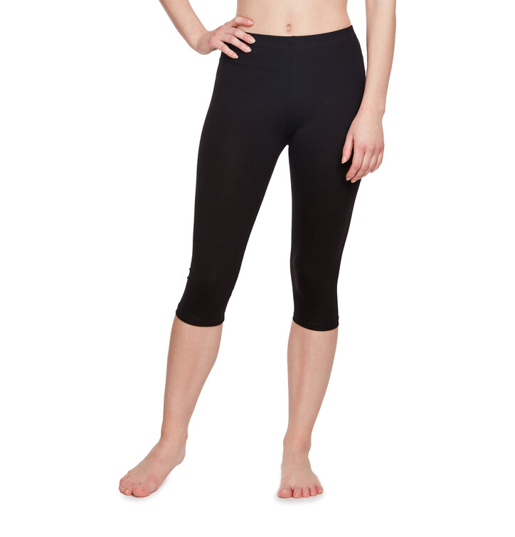 Cotton Mid Leggings Black