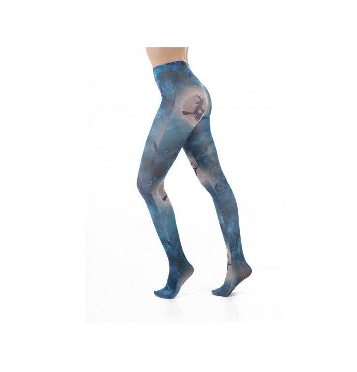 Dámske vzorované pančuchové nohavice Hocus Pocus