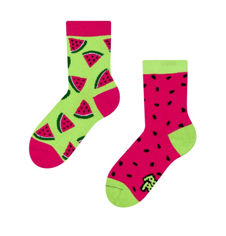 Lustige Kinder Socken Wassermelone
