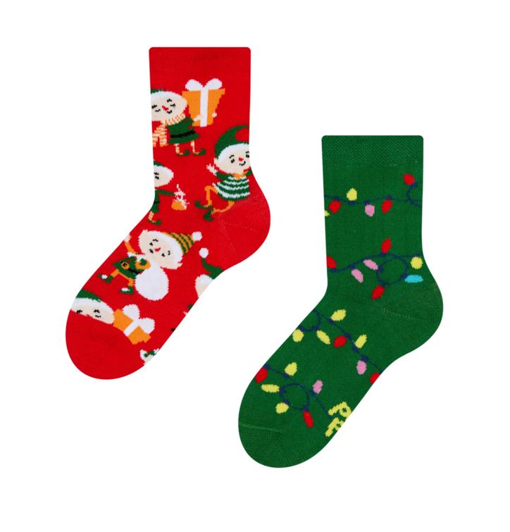 Dětské veselé ponožky Elfové