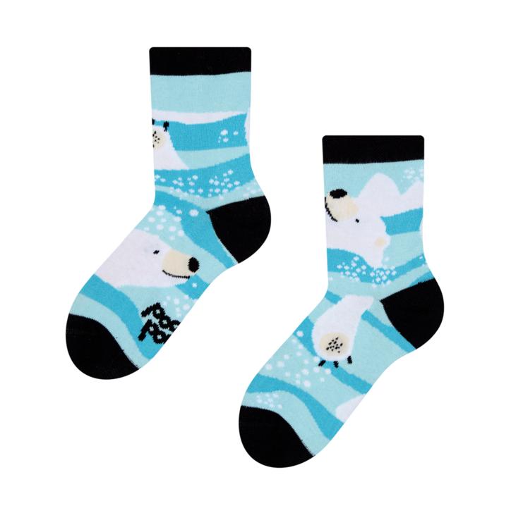 Dětské veselé ponožky Lední medvěd