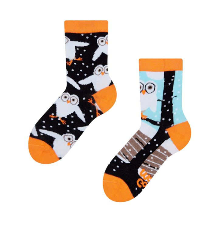 Dětské veselé ponožky Sovy