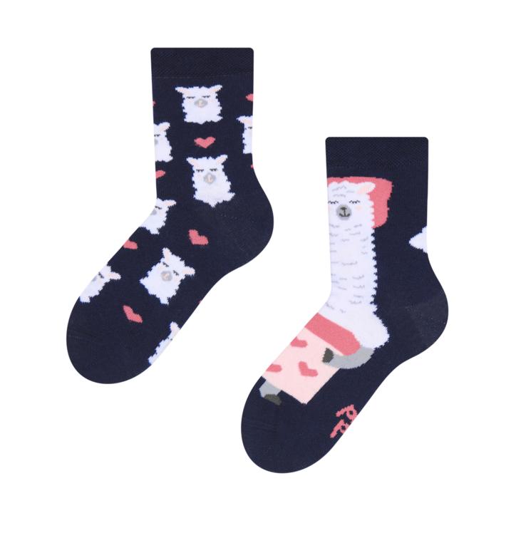 Detské veselé ponožky Spiaca lama