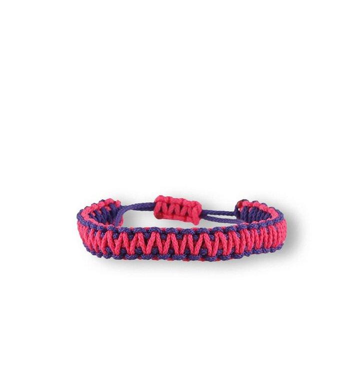 Microcord survival náramek King Cobra fialovo-růžový