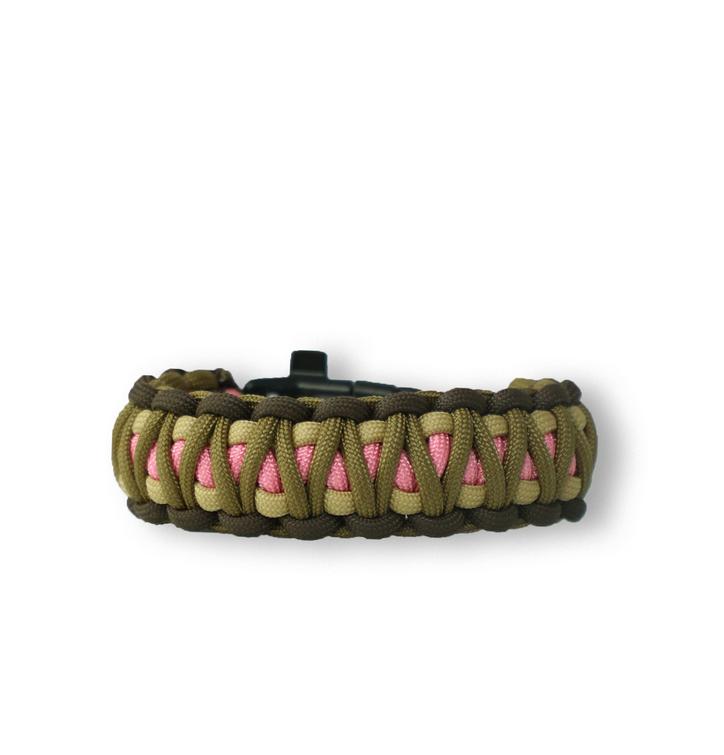 Bracelet en paracorde Multicam W2 avec allume-feu, boussole et sifflet