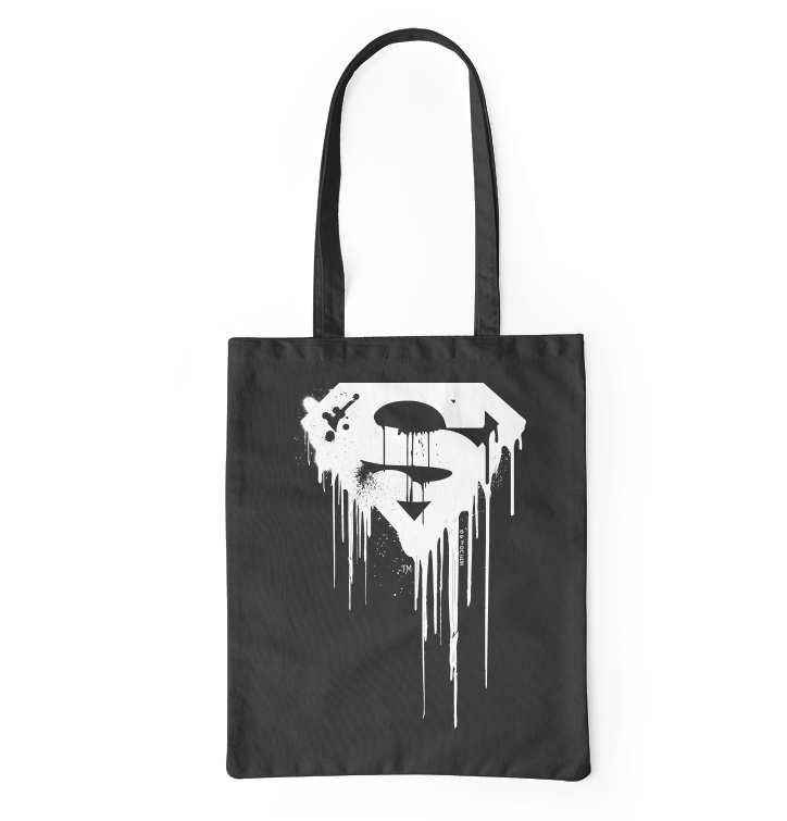 Canvas Bag Superman™ Black and White Logo