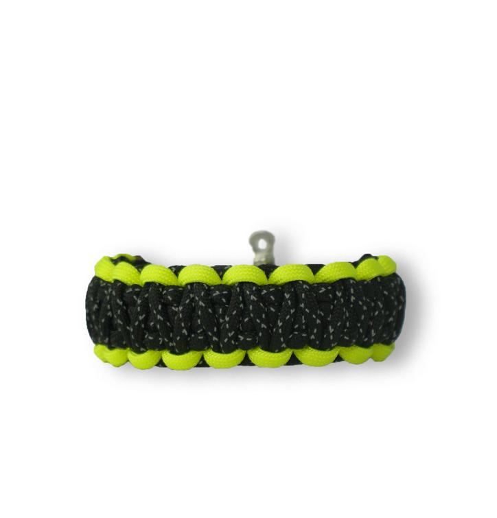 Bracelet en paracorde réfléchissant Night Line avec boucle ajustable