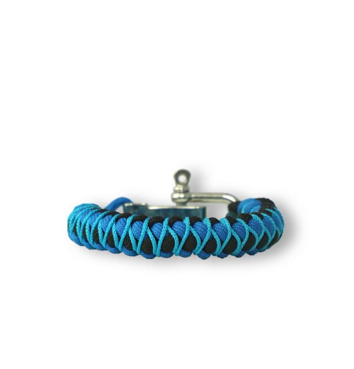 Bracelet en paracorde bleu Skip avec boucle ajustable