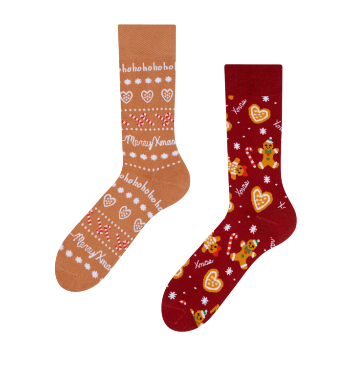 Warme vrolijke sokken Peperkoekwereld