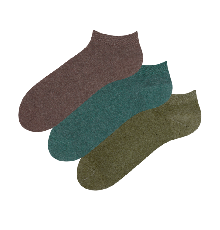 3-pack Recycled Cotton Low Socks Hunter