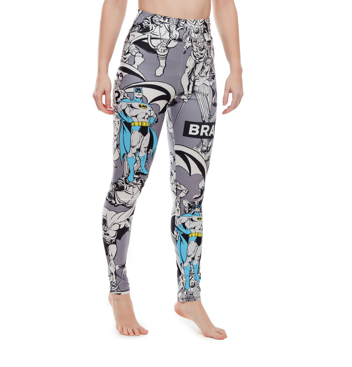 Legging rigolo taille haute Batman ™ Noir et blanc