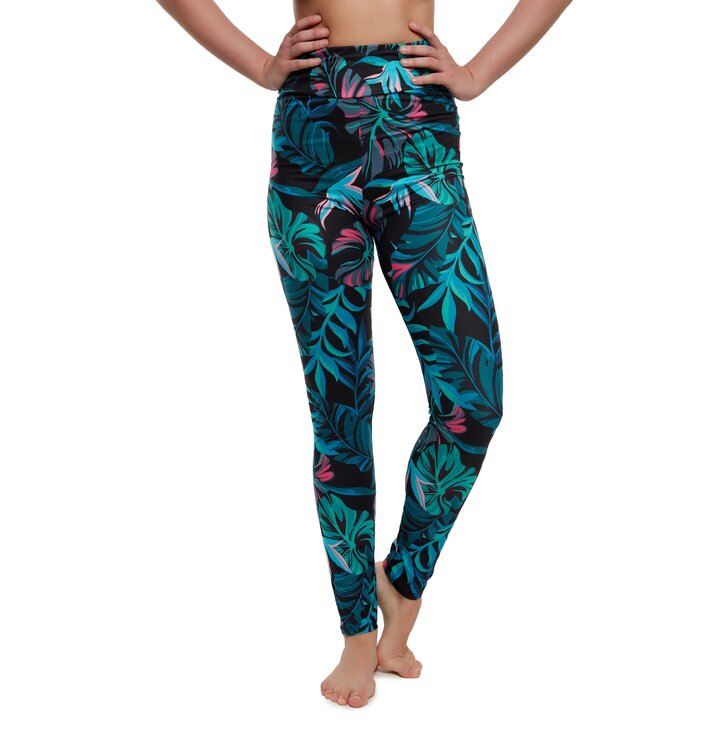 High Waisted Leggings Night Tropics