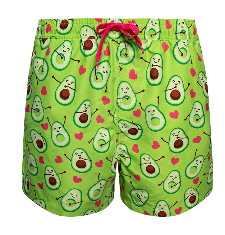 Lustige Badeshorts - Avocado-Liebe