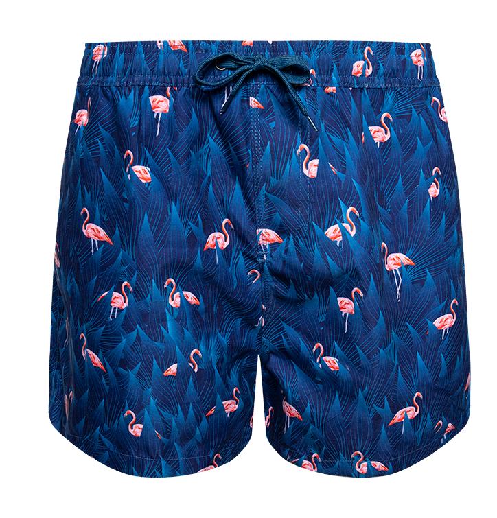 Swim Shorts Night Flamingo