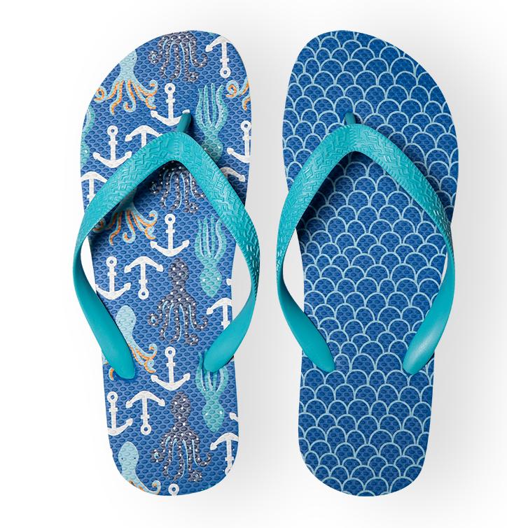 Flip Flops Octopus & Anchors