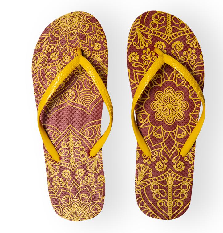 Vrolijke Flip Flops - Mandala