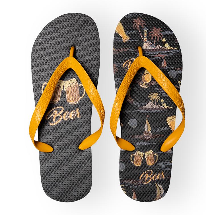 Lustige Flip-Flops - Strandbier