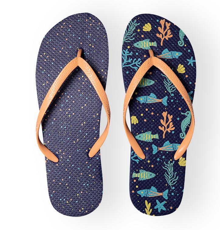 Lustige Flip-Flops - Meeresleben