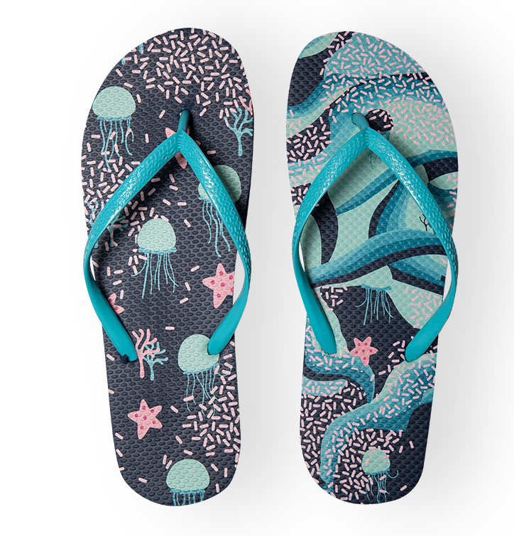 Vrolijke Flip Flops - Onderwater