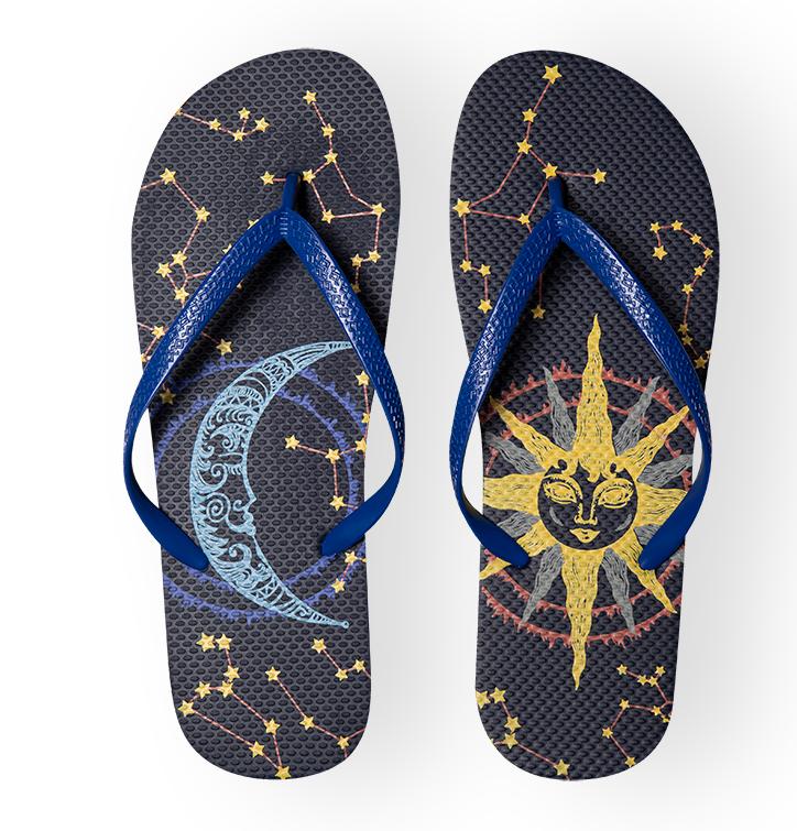 Flip Flops Sun and Moon