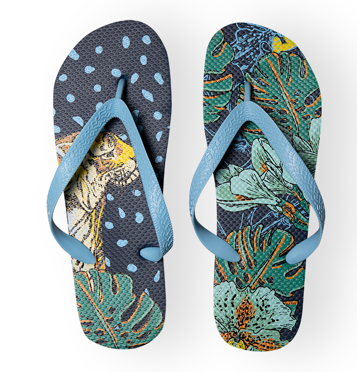 Flip Flops Tropical Jungle