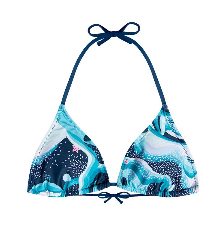 Haut de bikini triangulaire rigolo - Sous-marin