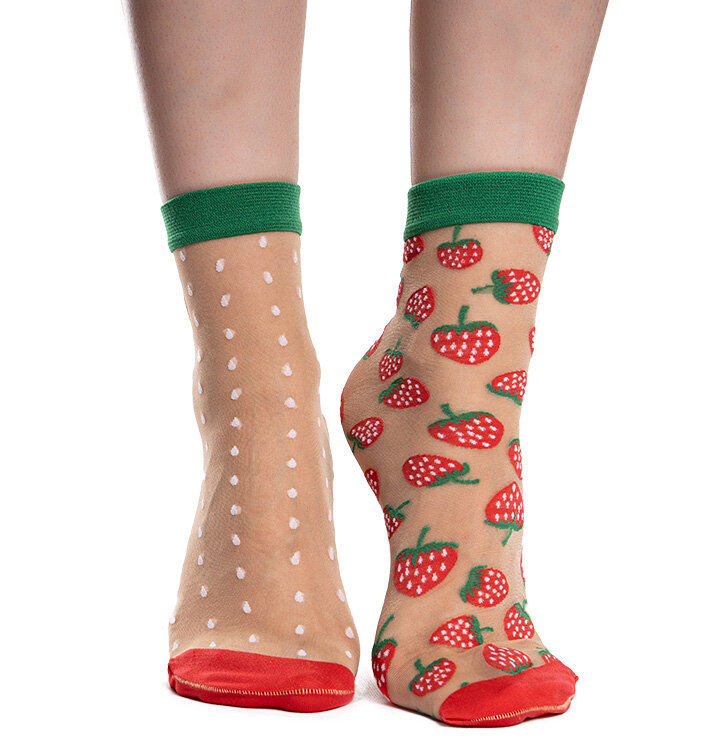 Nylon Socks Strawberry