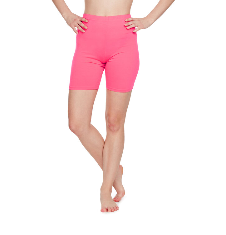 Cotton Biker Shorts Neon Pink