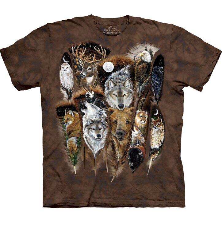 Állati tollak póló