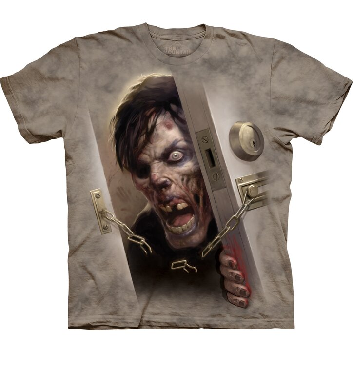 T-Shirt Zombie in der Tür