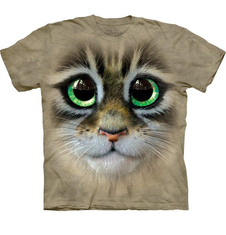 T-Shirt Großäugiges Kätzchen