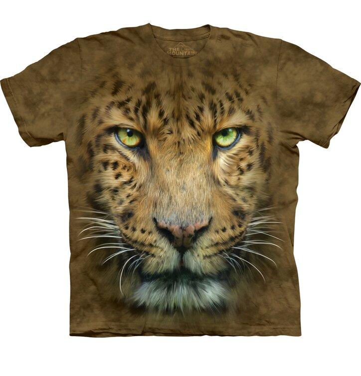 T-Shirt Gesicht Leopard