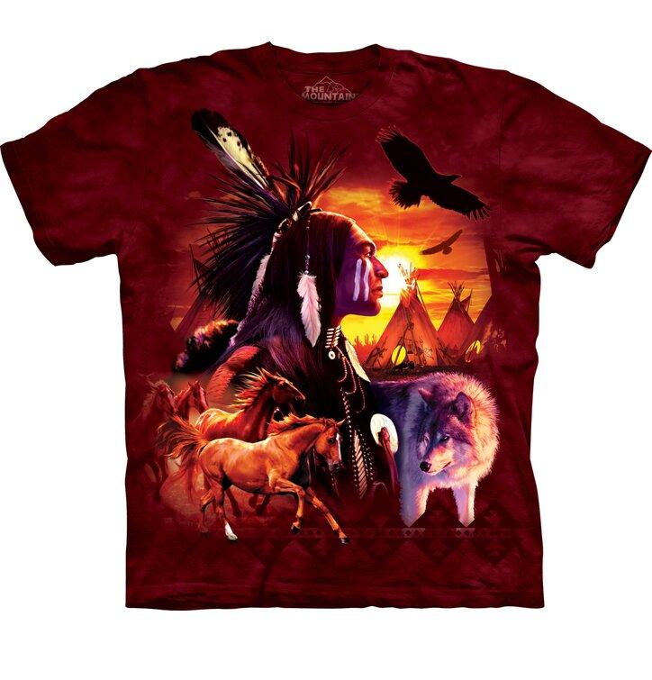 Kinder T-Shirt Indianische Symbole