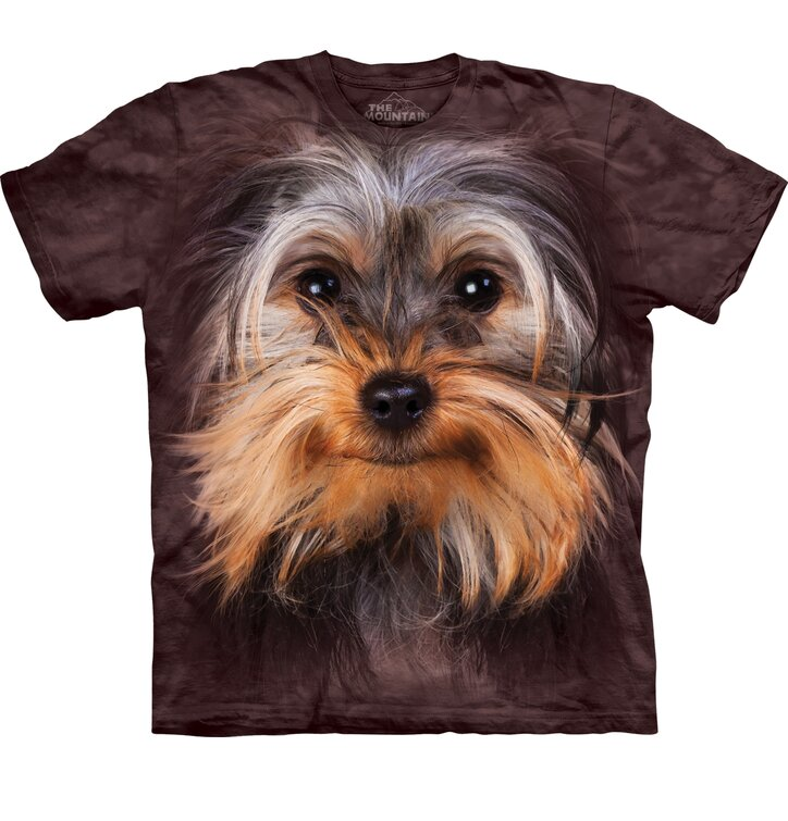 Kinder T-Shirt Yorkshire Terrier Gesicht