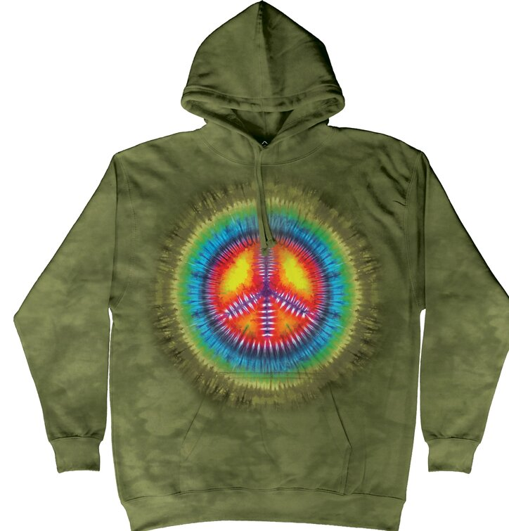 Sweatshirt Peace Tie Dye mit Kapuze