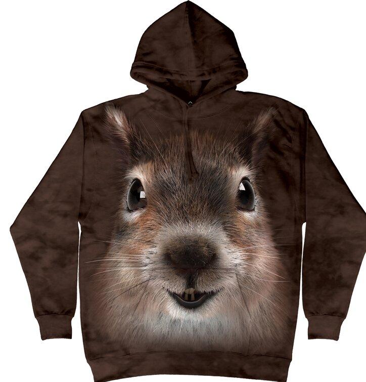 Sweatshirt Eichhörnchen mit Kapuze