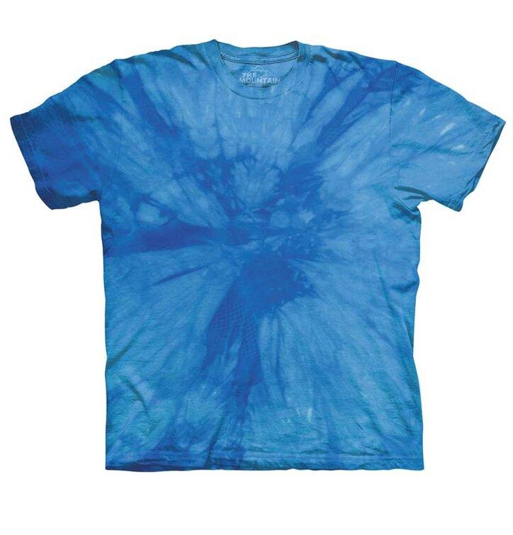 Spiral Blue Mottled Dye