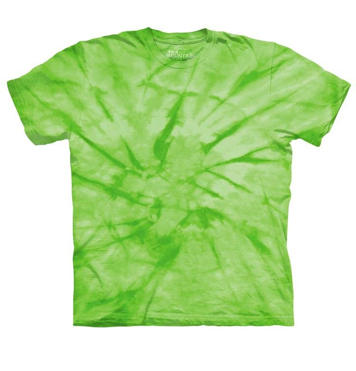 Spiral Green Mottled Dye