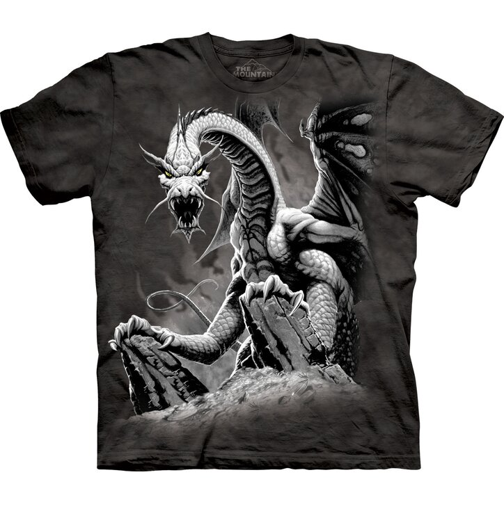 T-Shirt Schwarzer Drache