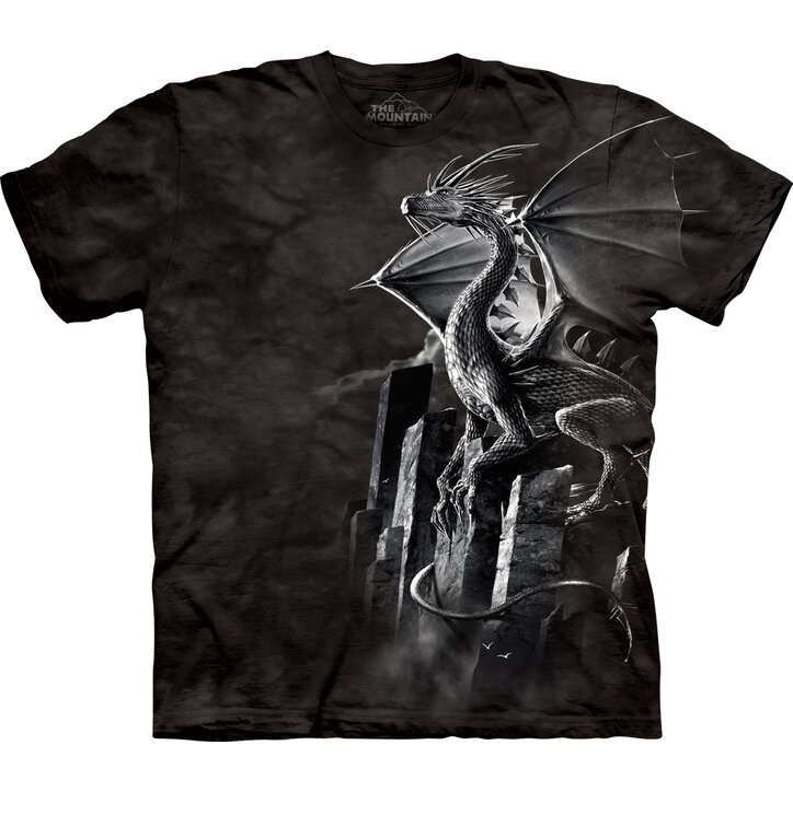 T-Shirt Silberner Drache
