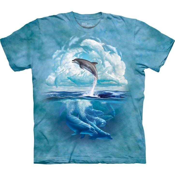 T-Shirt Delphin-Himmel