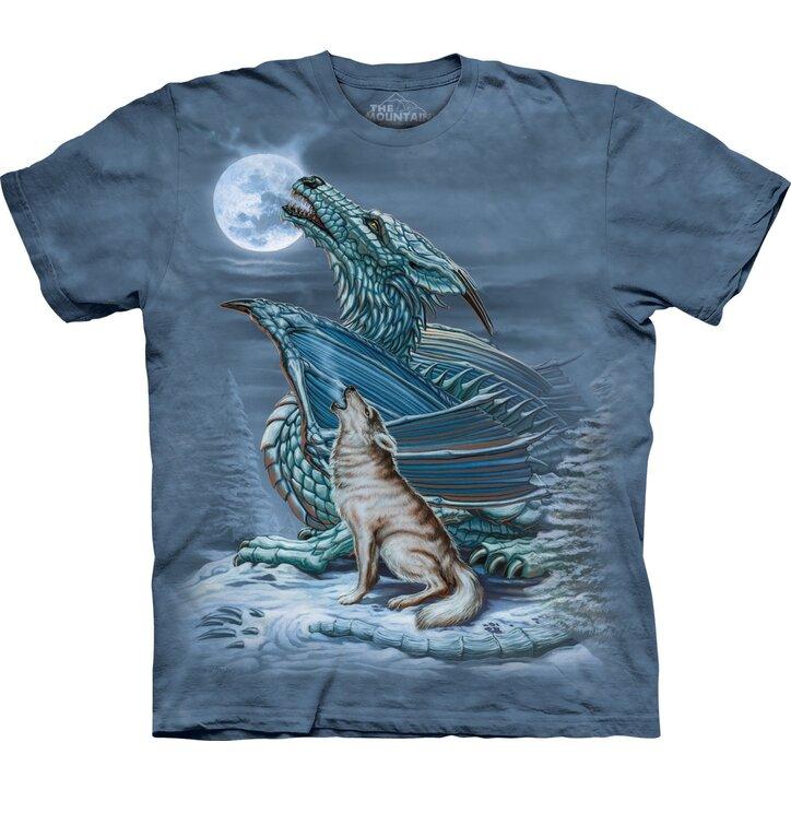Tričko Drak vlk a měsíc
