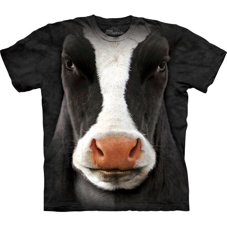 T-Shirt Schwarze Kuh Gesicht